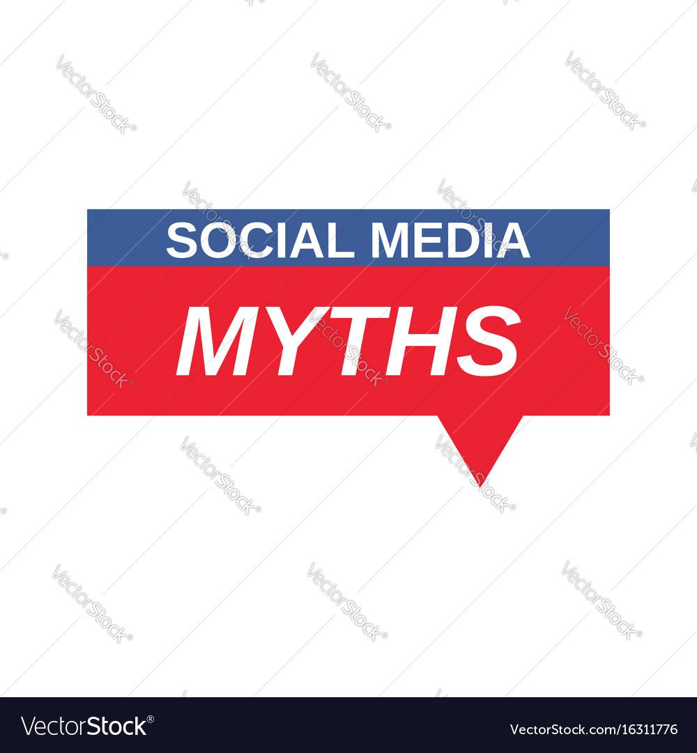 Social media myths sign