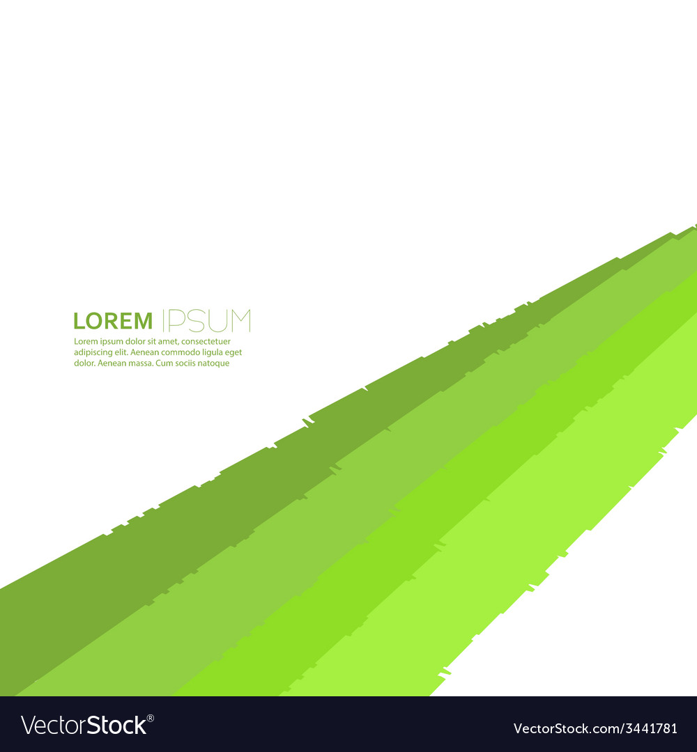 Abstract background of green elements