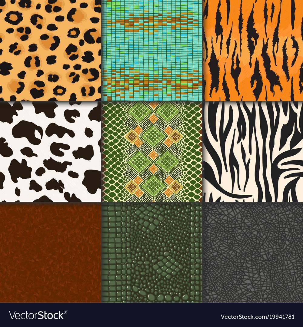 Animal skins pattern seamless animalistic