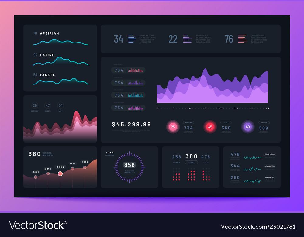 Business infographic dashboard modern interface