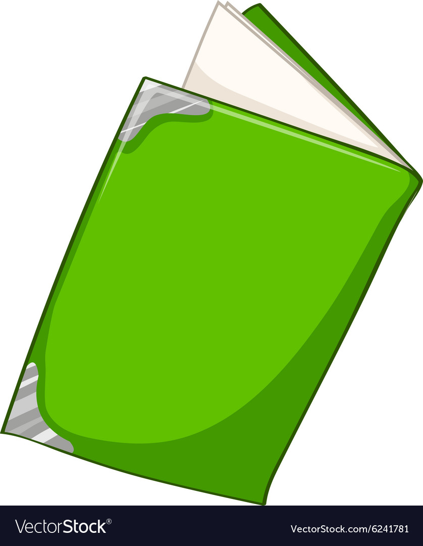 Green book on white vector image