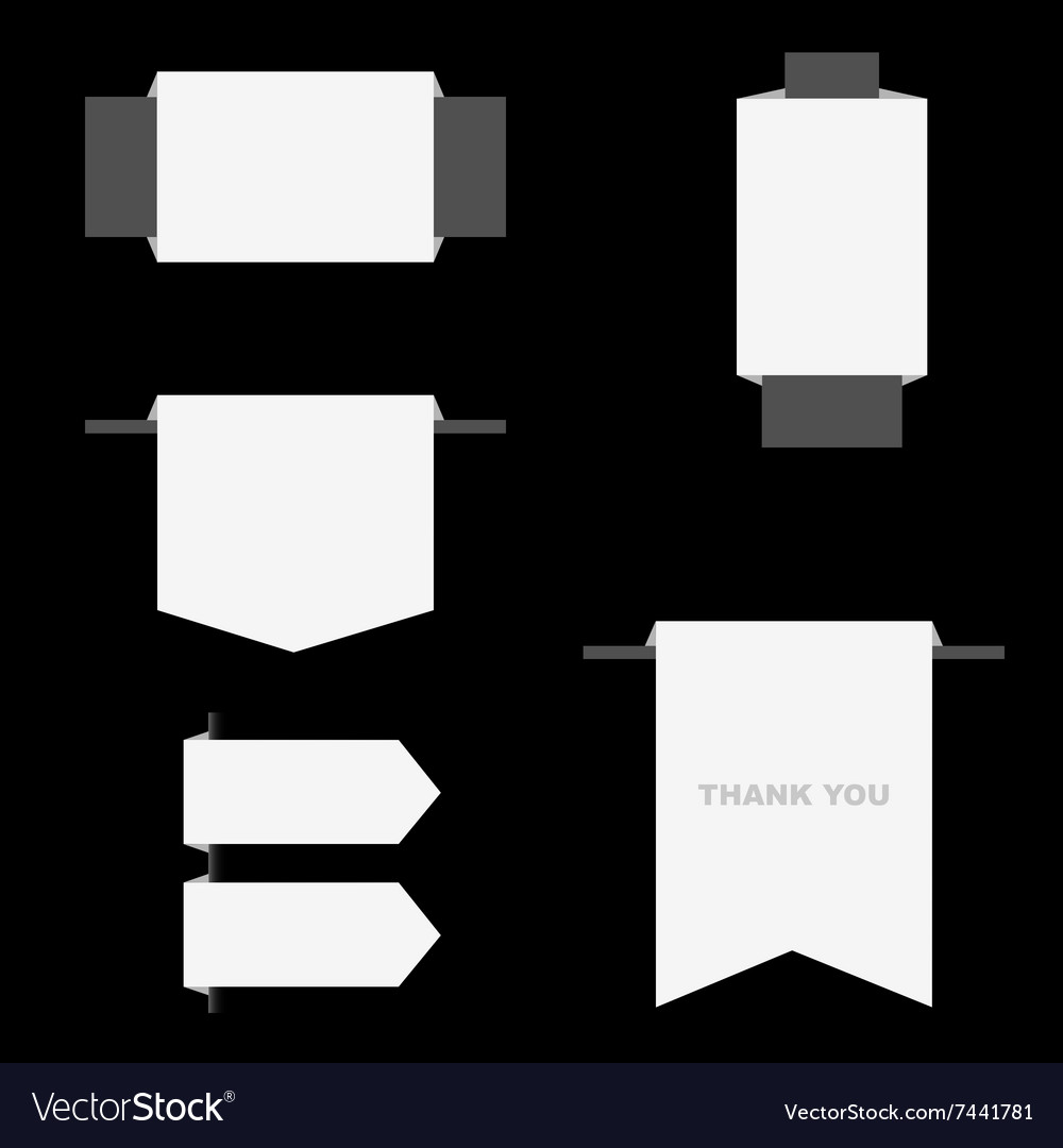 Label gray and white vector image