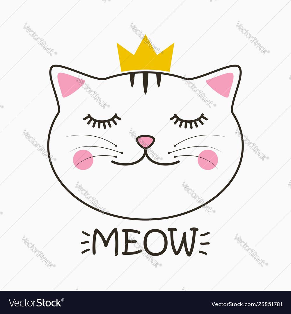 Meow cat print
