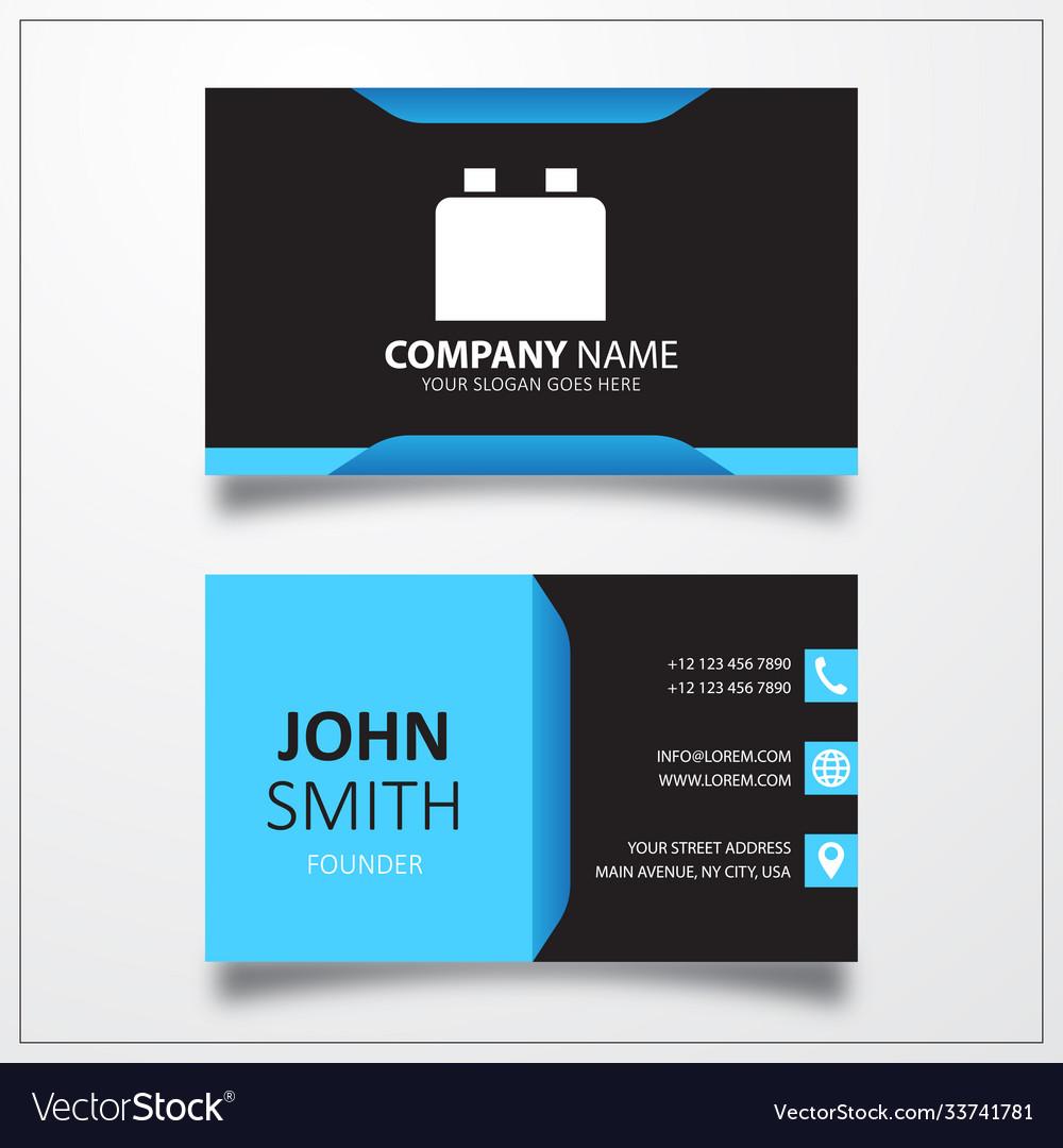 Plugin icon business card template