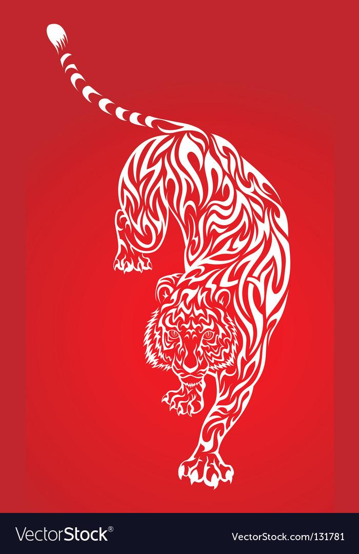 Tiger tattoo 2 red