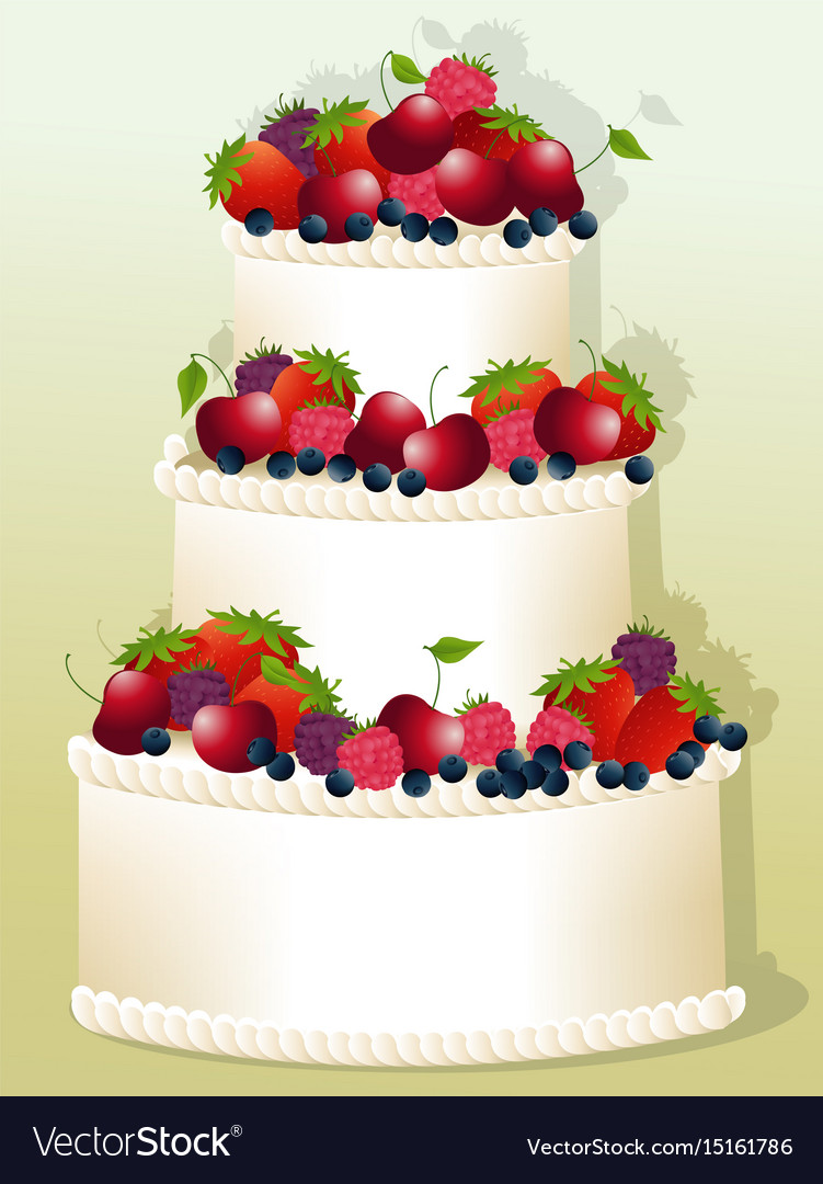 Astounding Big Birthday Cake Royalty Free Vector Image Vectorstock Personalised Birthday Cards Veneteletsinfo