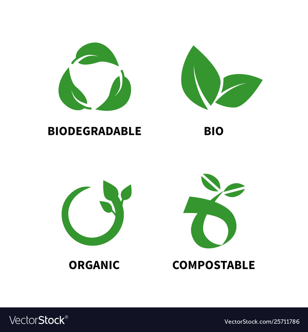 Biodegradable and compostable concept reduce reuse