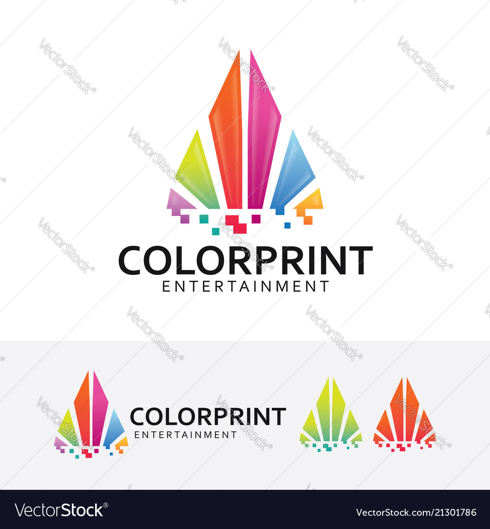 Color printing logo design