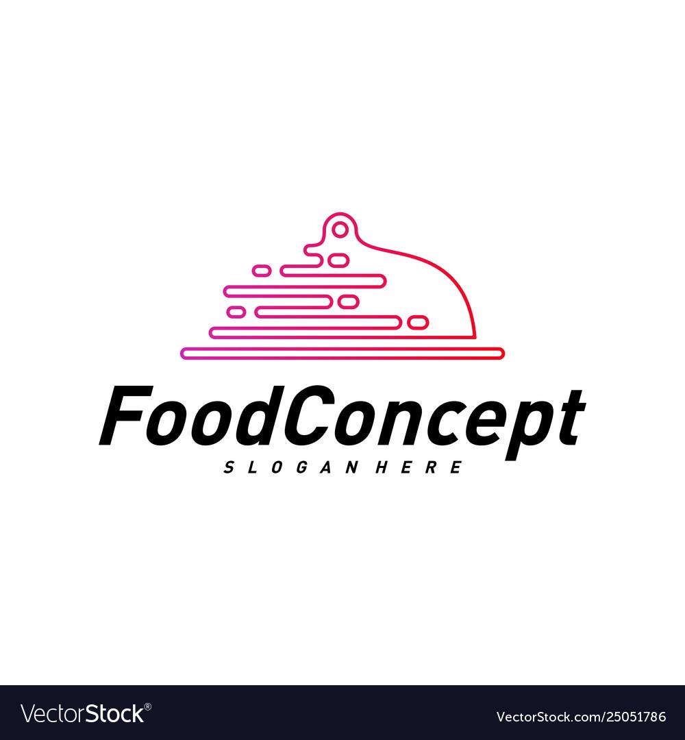 Fast food logo concept cooking logo design