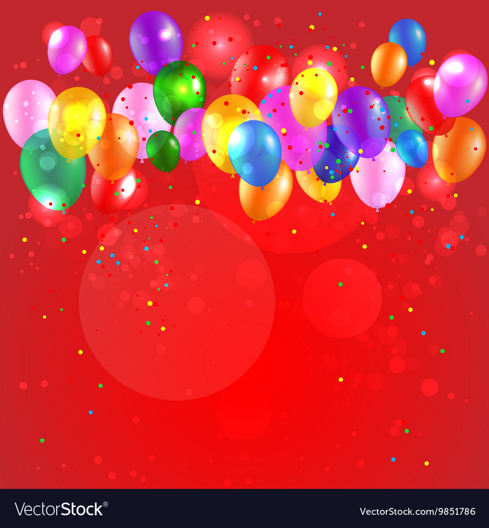 Festive background with color balloons