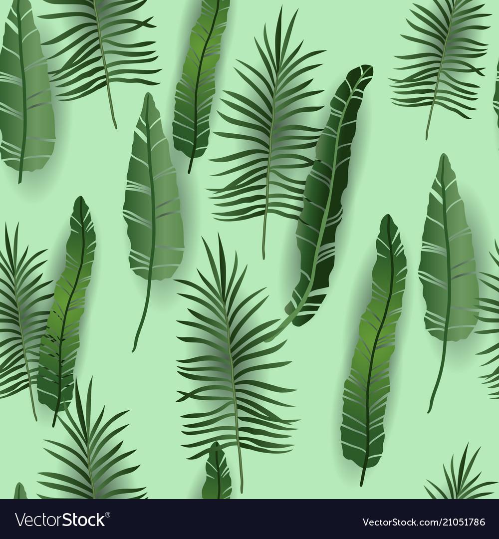 Green exotic seamless pattern