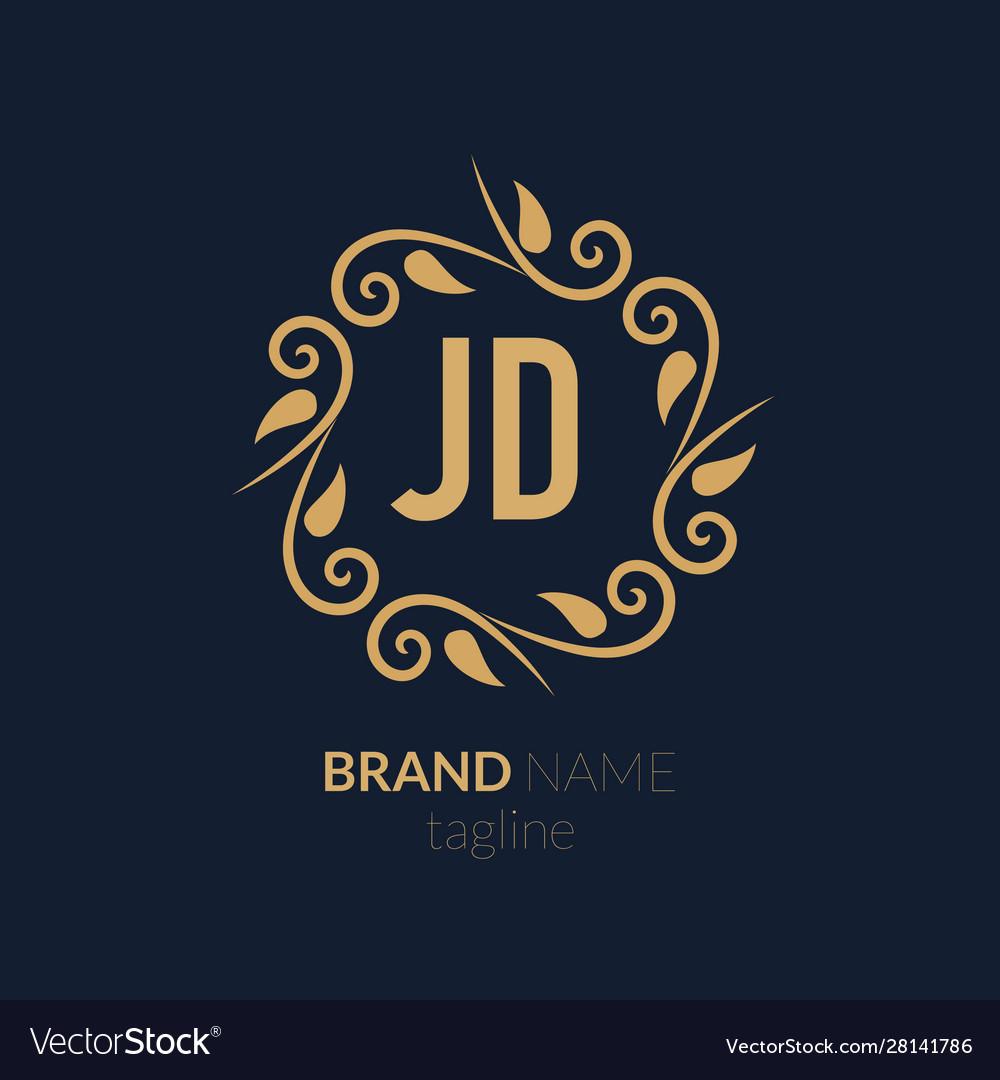 initial letter jd creative elegant logo template vector image vectorstock