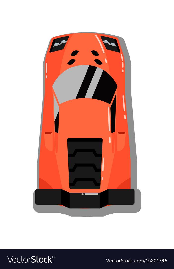 Modern sport car top view icon