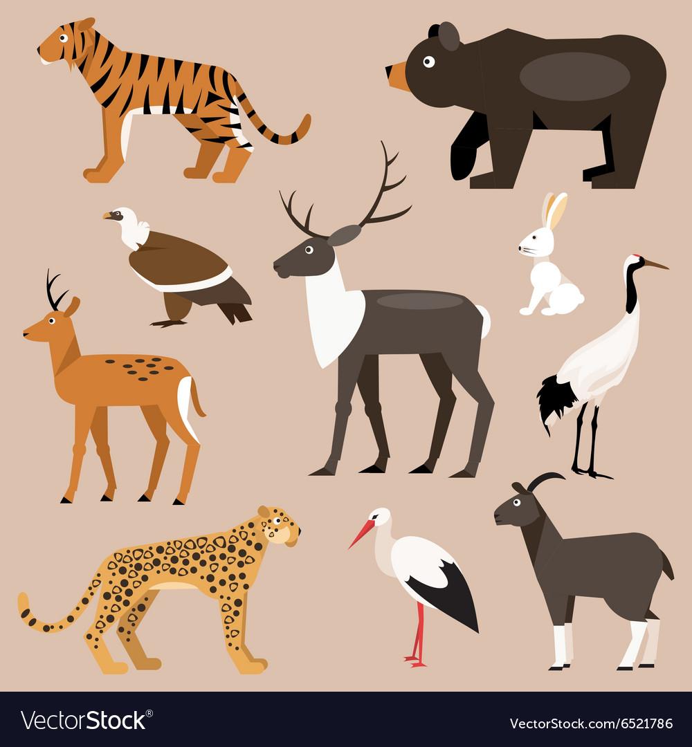 Set of animal Far East vector image