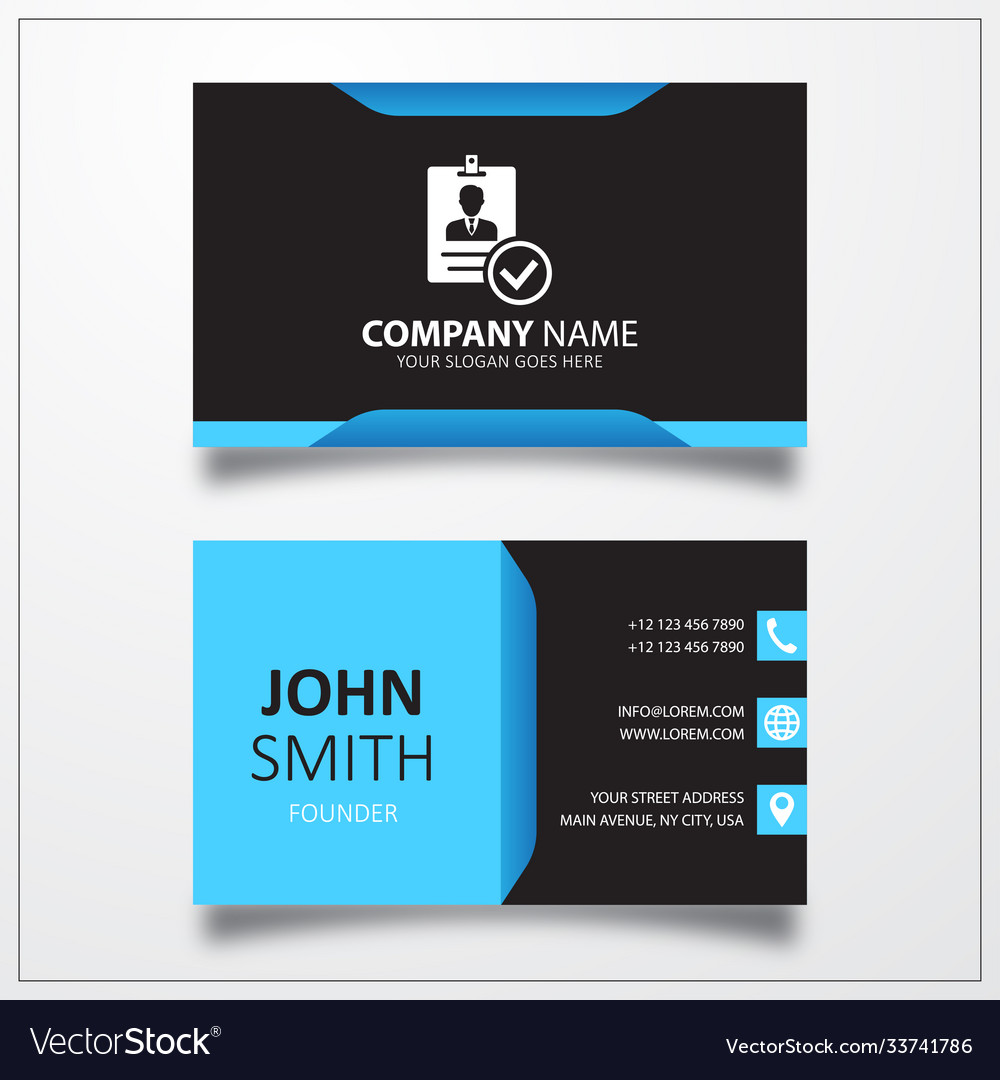 Verified id card icon business card template