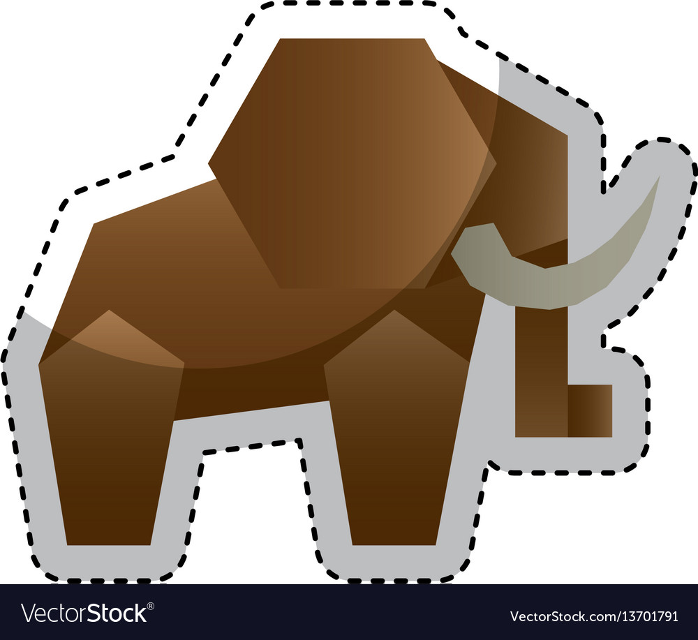 Animal low poly style vector image