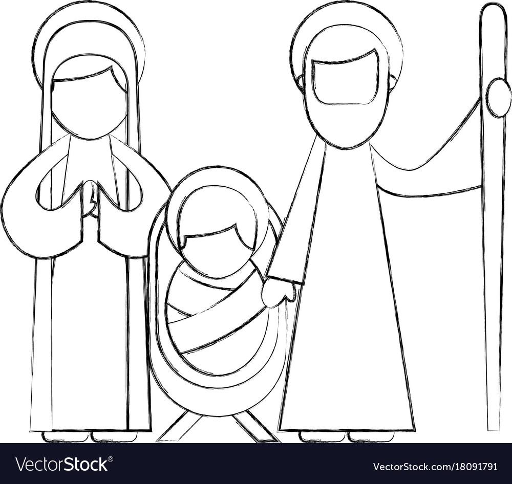 Christmas nativity scene holy family jesus mary