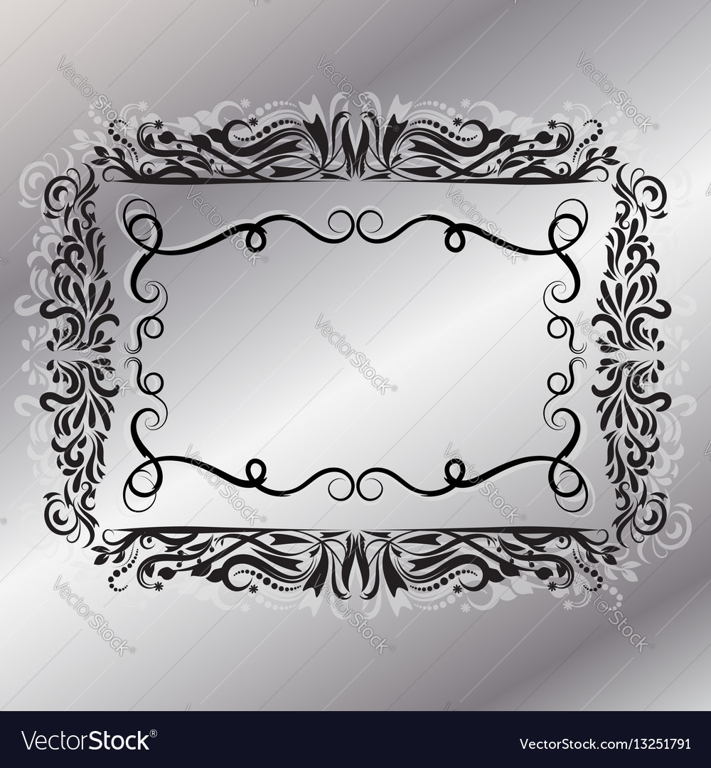 Decorative frames retro black frame Royalty Free Vector