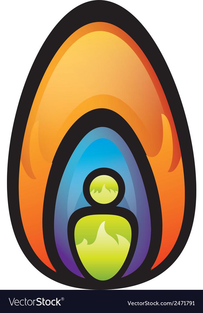 Fire-head-logo vector image