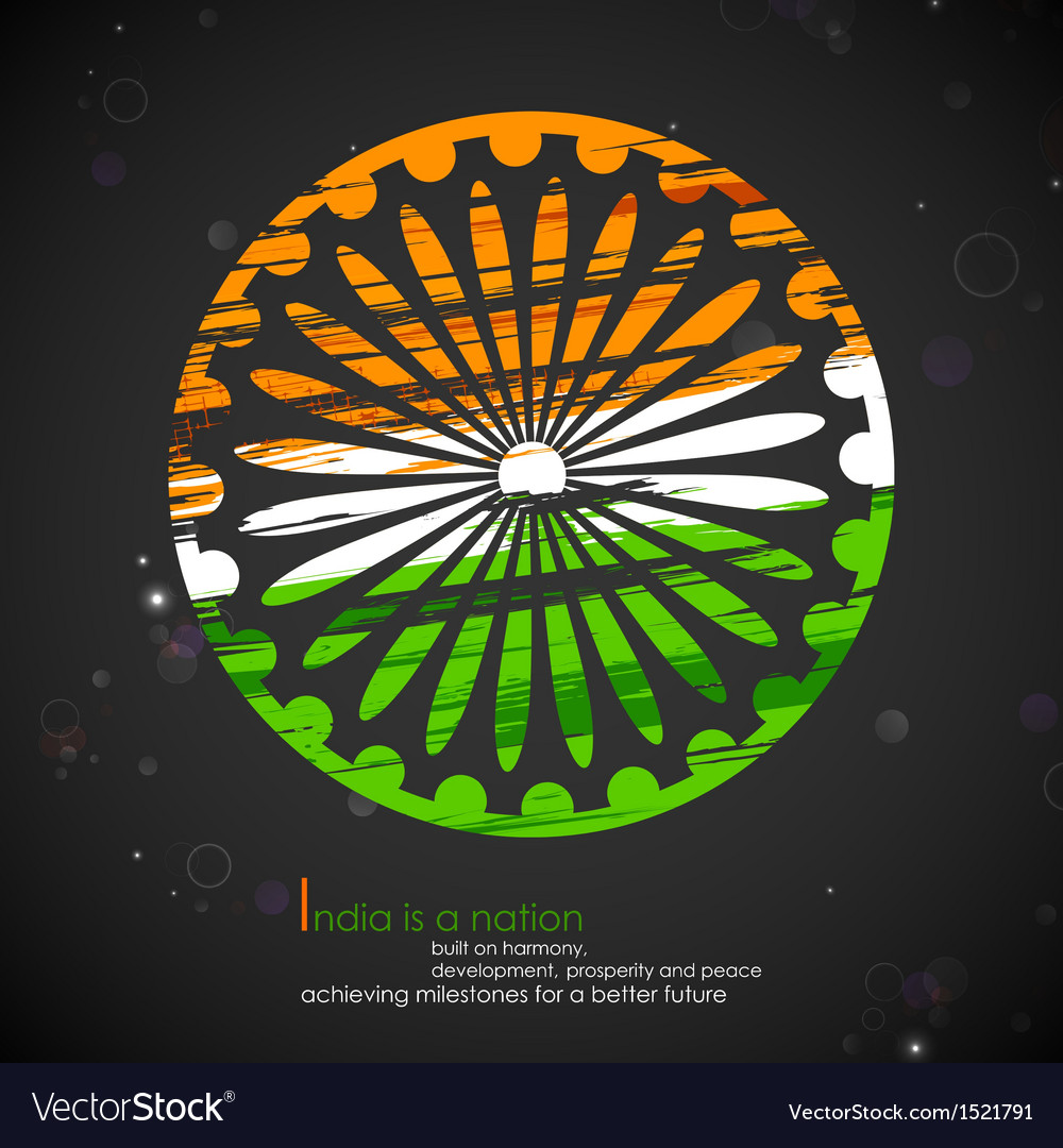 Grungy Indian Flag vector image