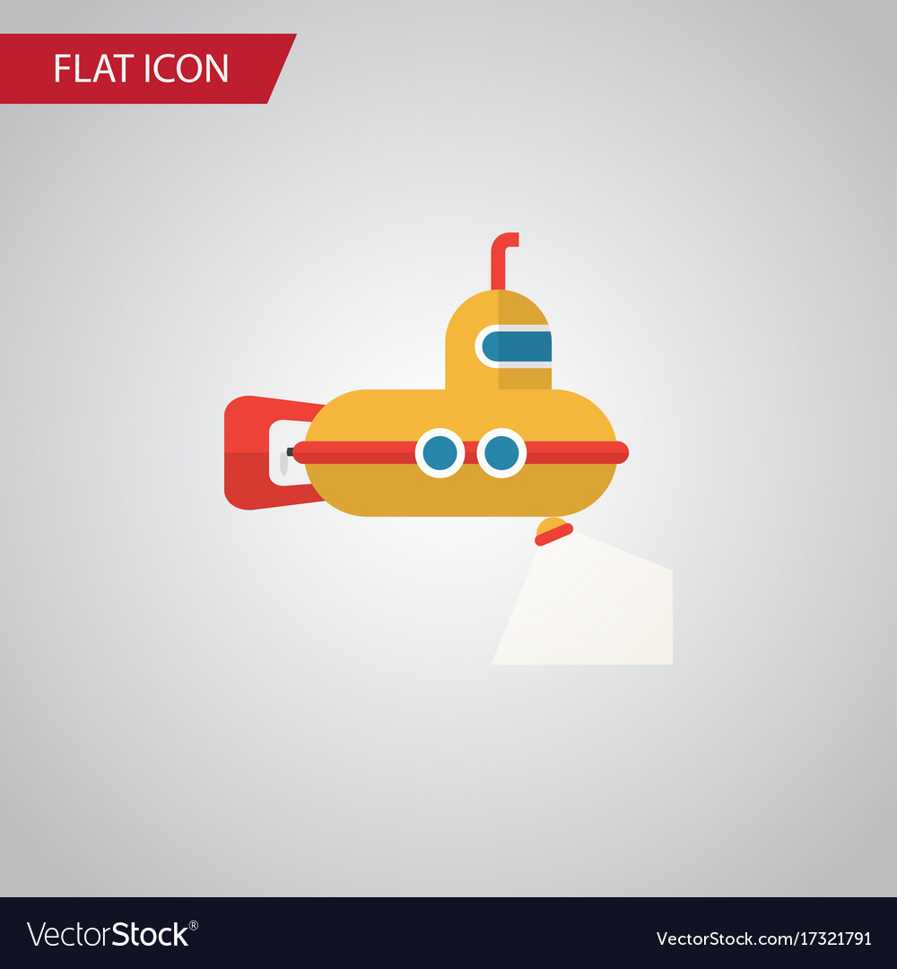 Isolated submarine flat icon periscope vector image