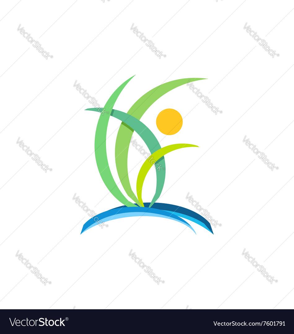 Plant people wellness logo nature ecology design