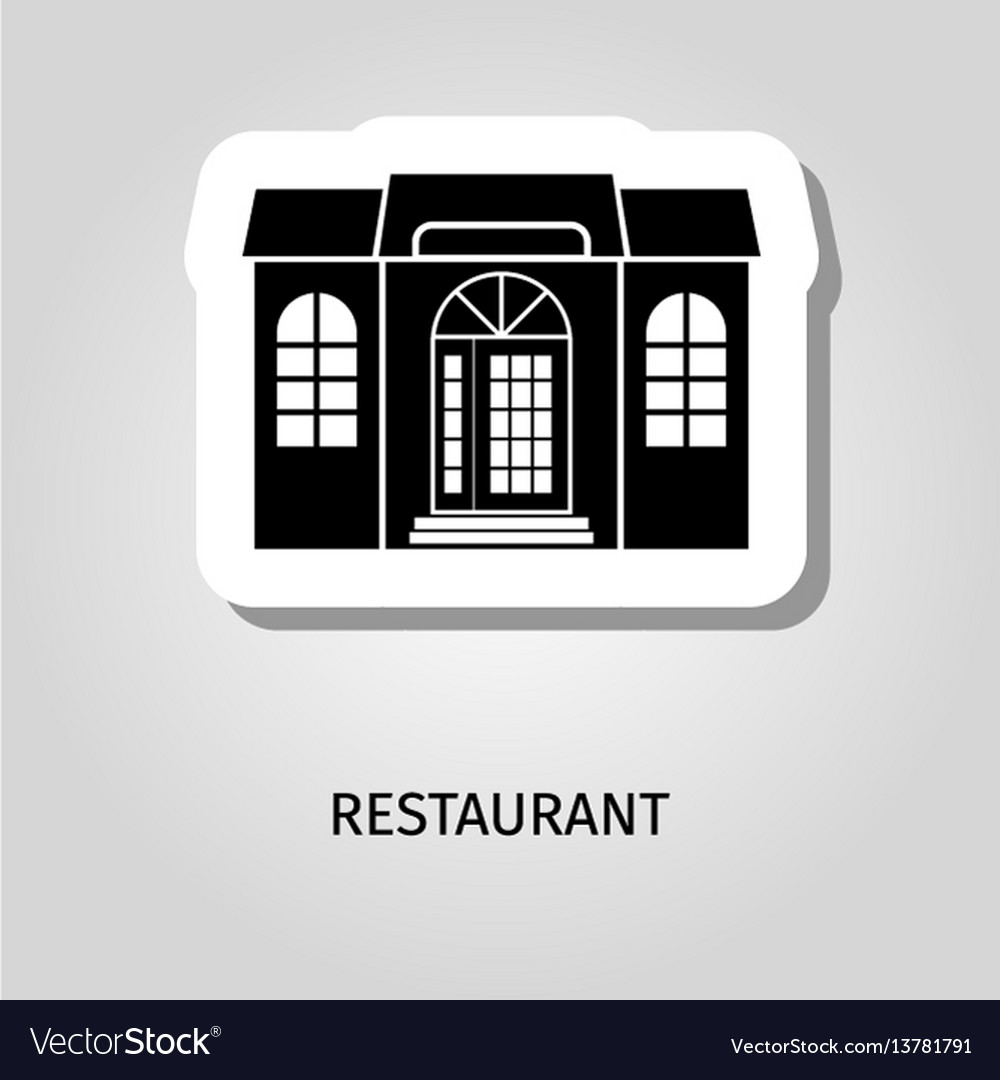 Reastaurant black building sticker