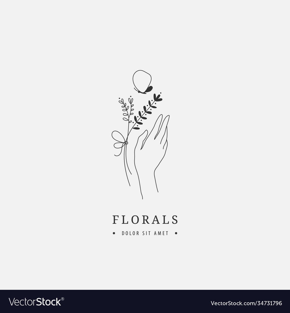 Abstract logo design template - hands with