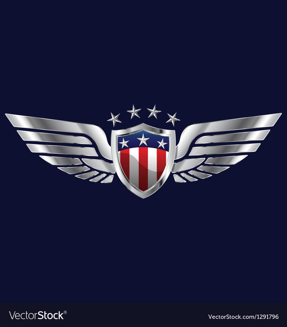 American Wings Royalty Free Vector Image Vectorstock