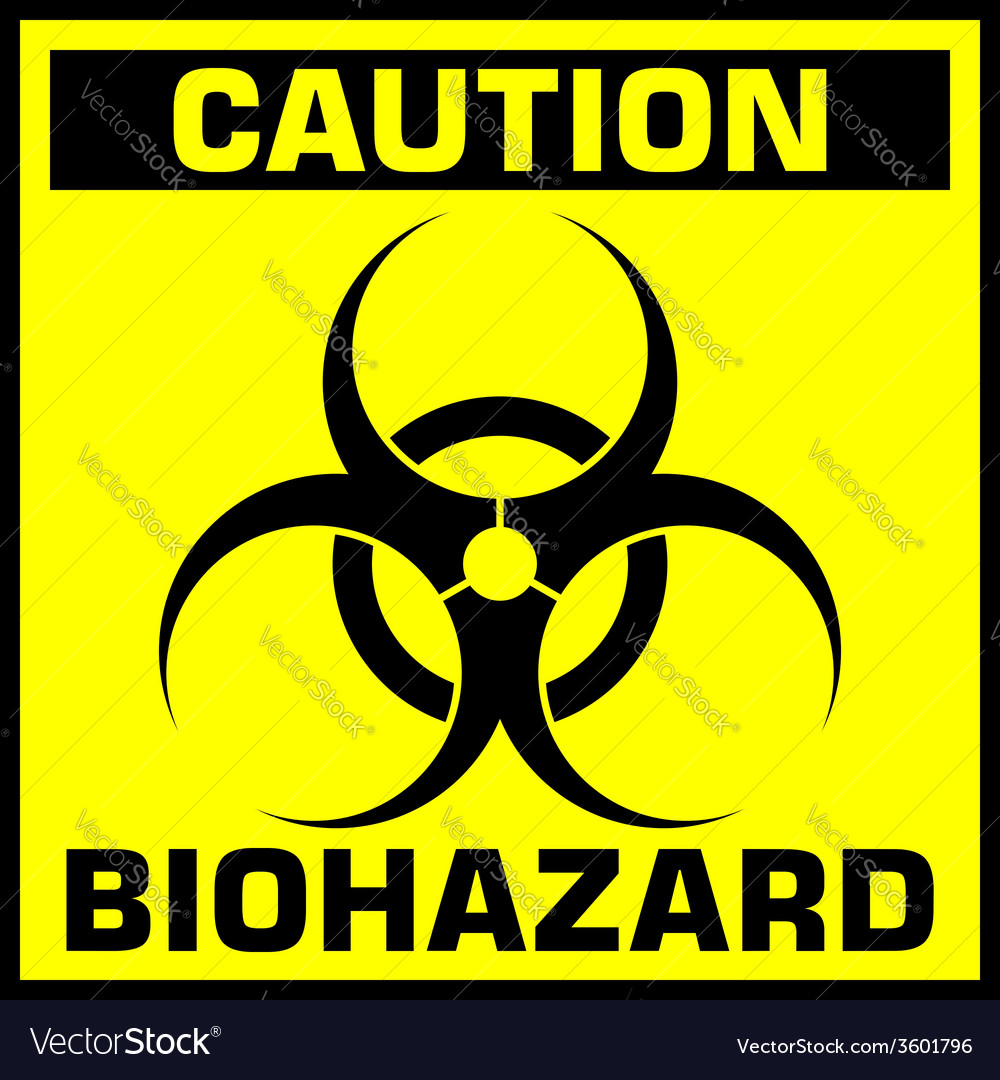 caution biohazard sign royalty free vector image