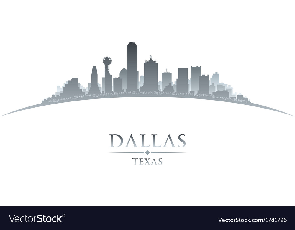 dallas texas city skyline silhouette royalty free vector