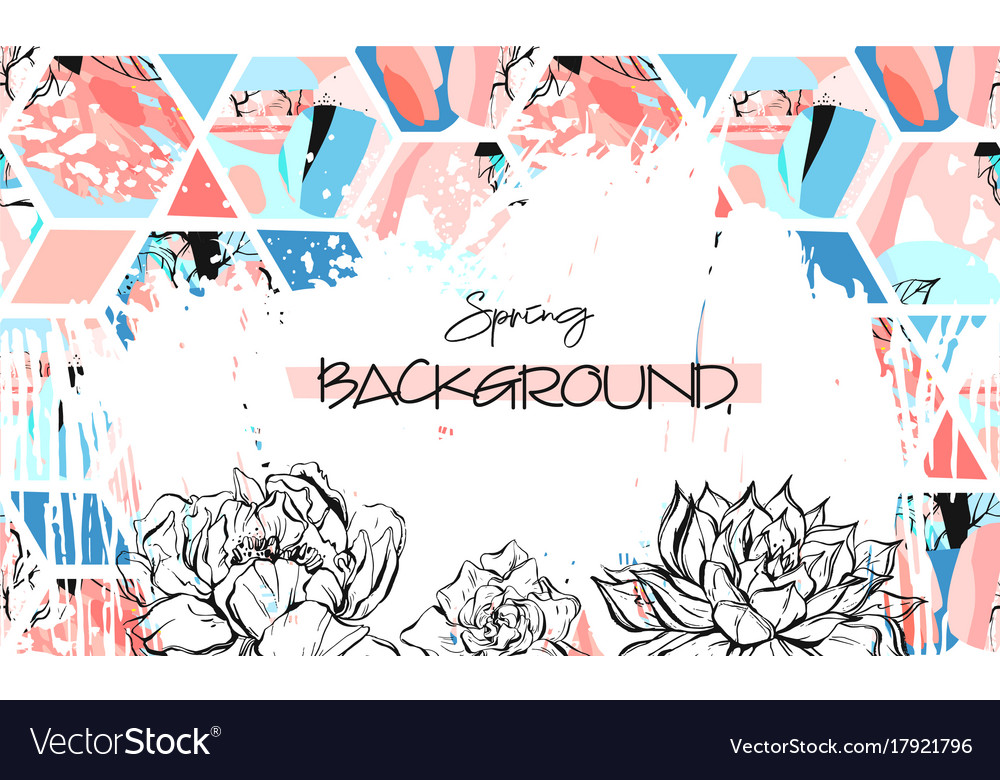 Hand drawn artistic universal textured vector image