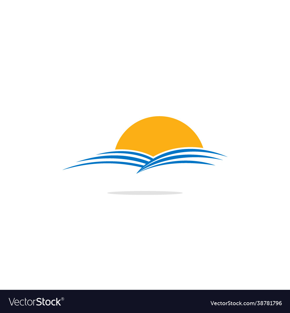 Nature landscape sun logo