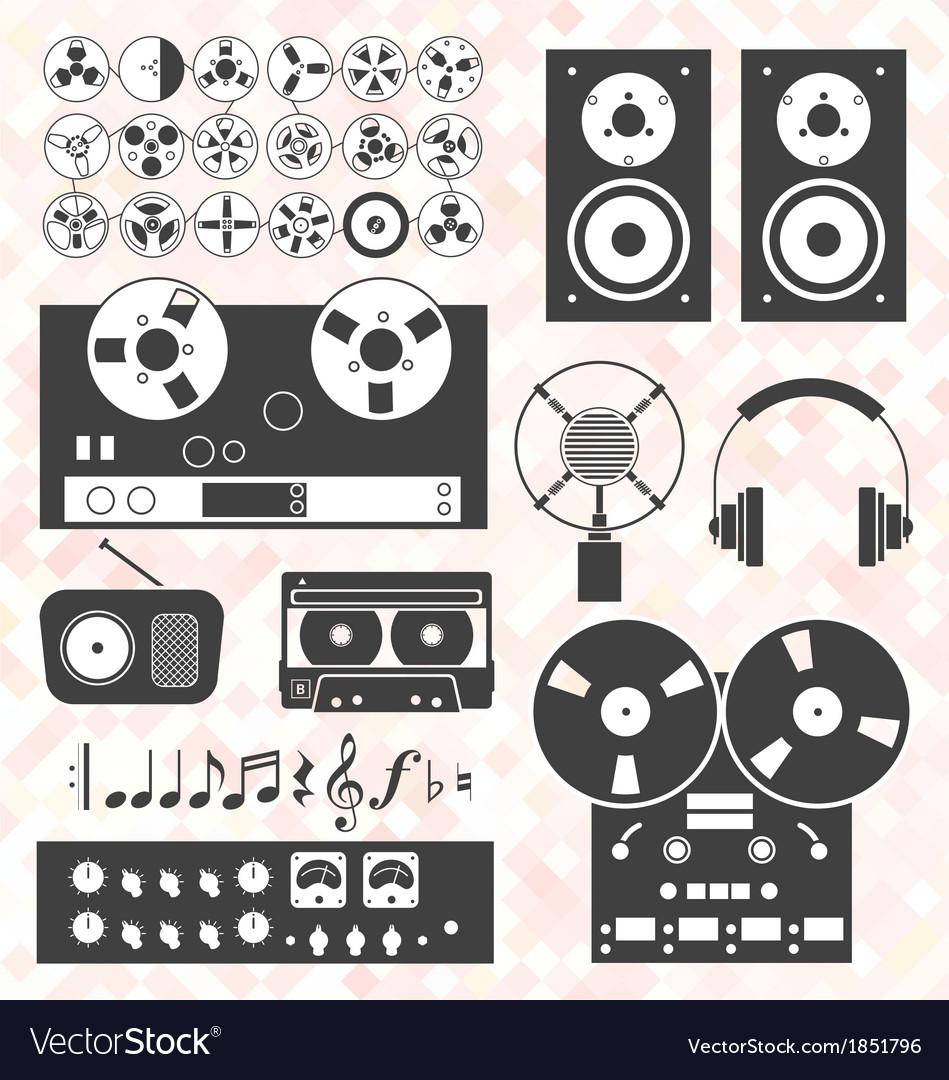 Retro Music Recording Equipment Object