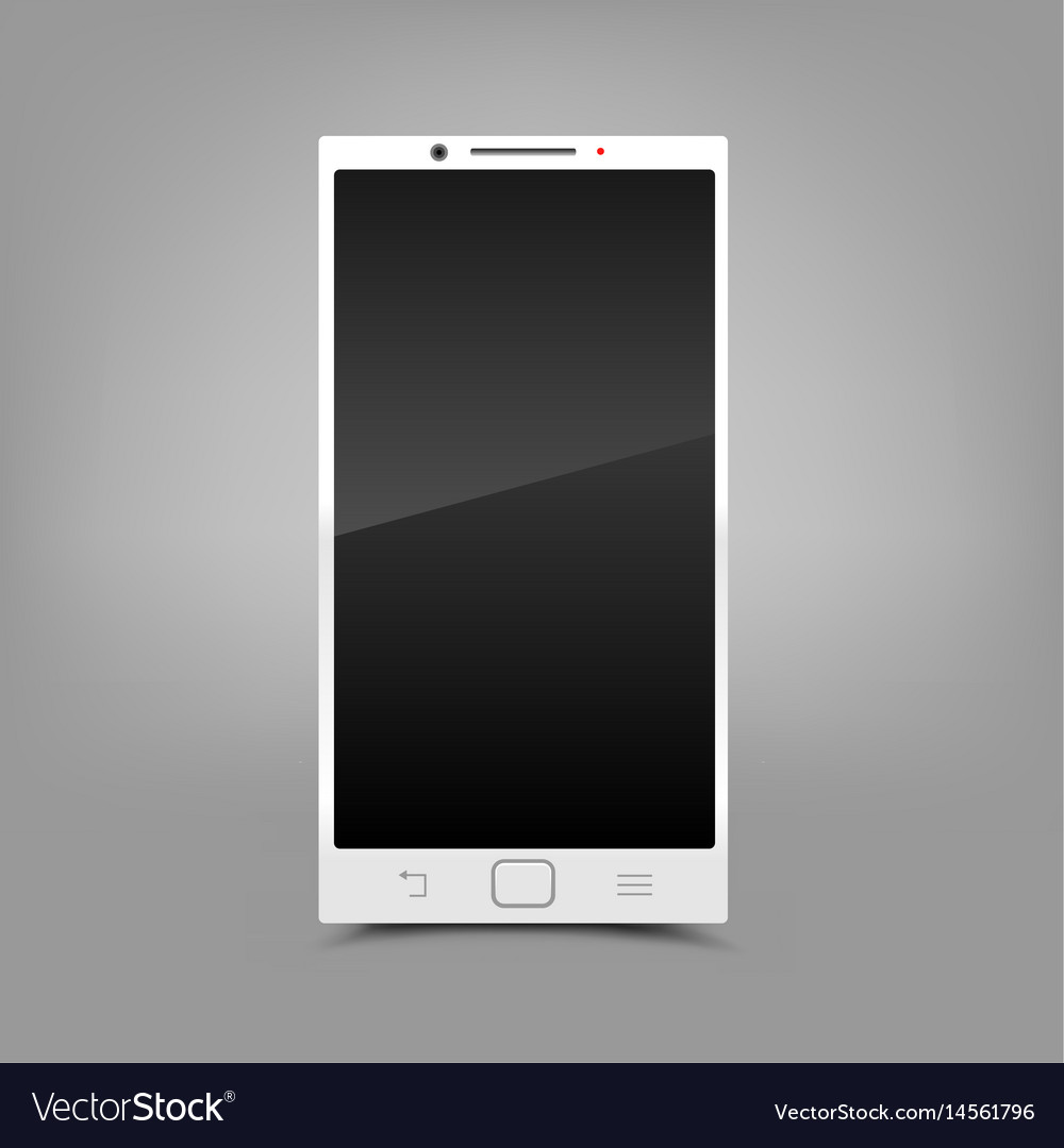 White smartphone gray background