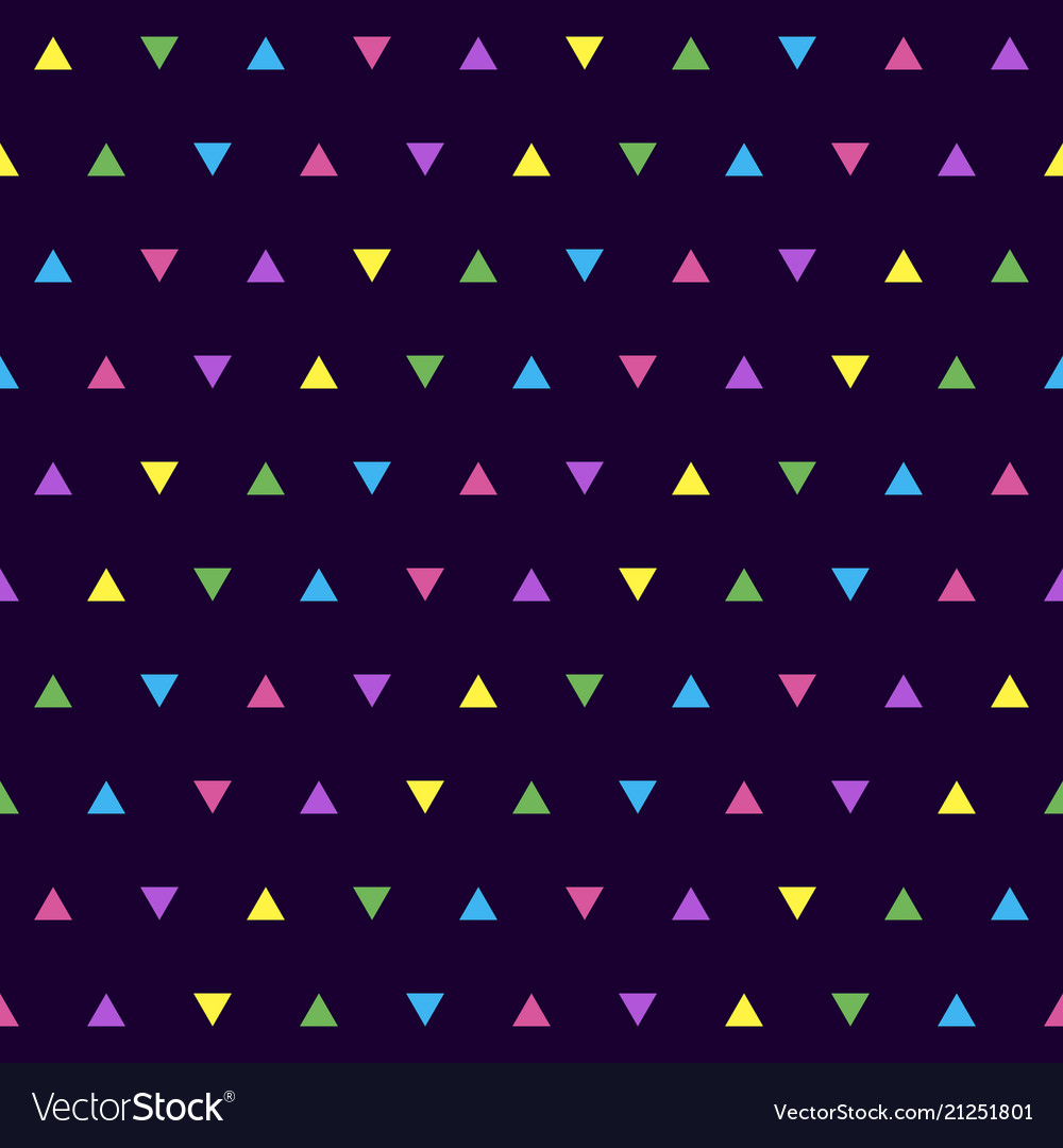 Colorful simple pattern with triangles