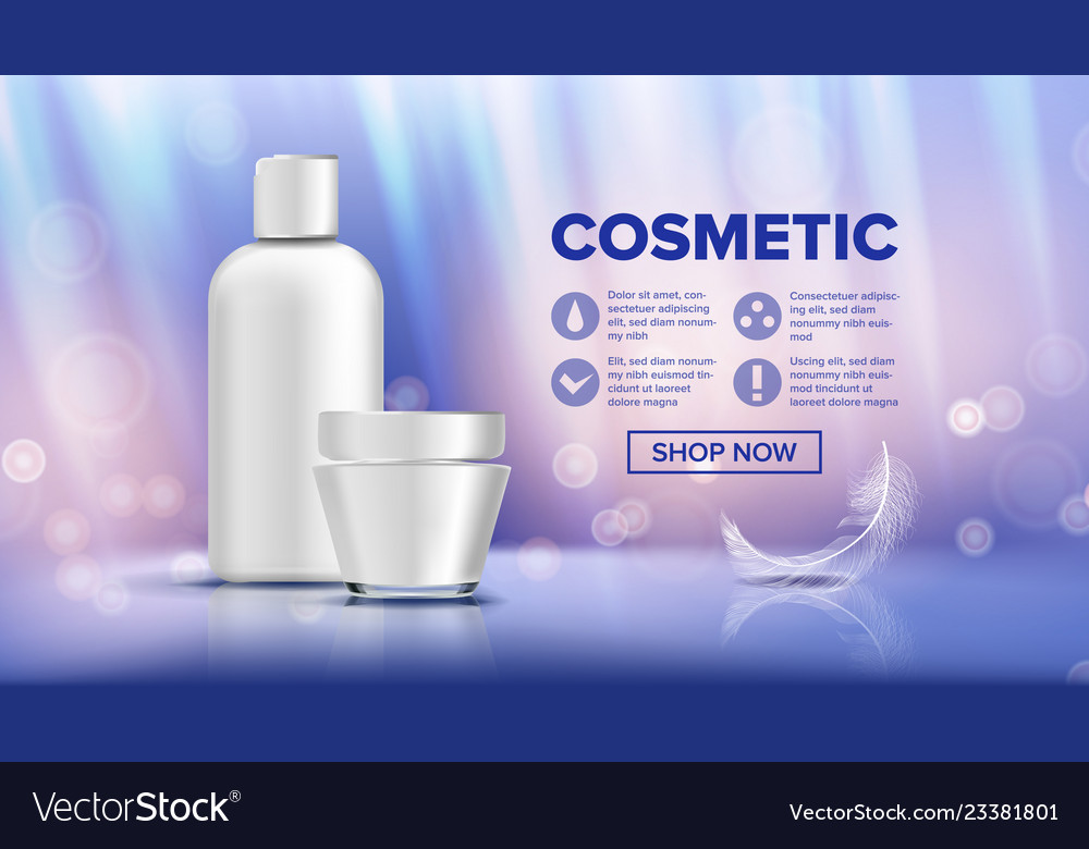 Cosmetic bottle ads lotion gel premium