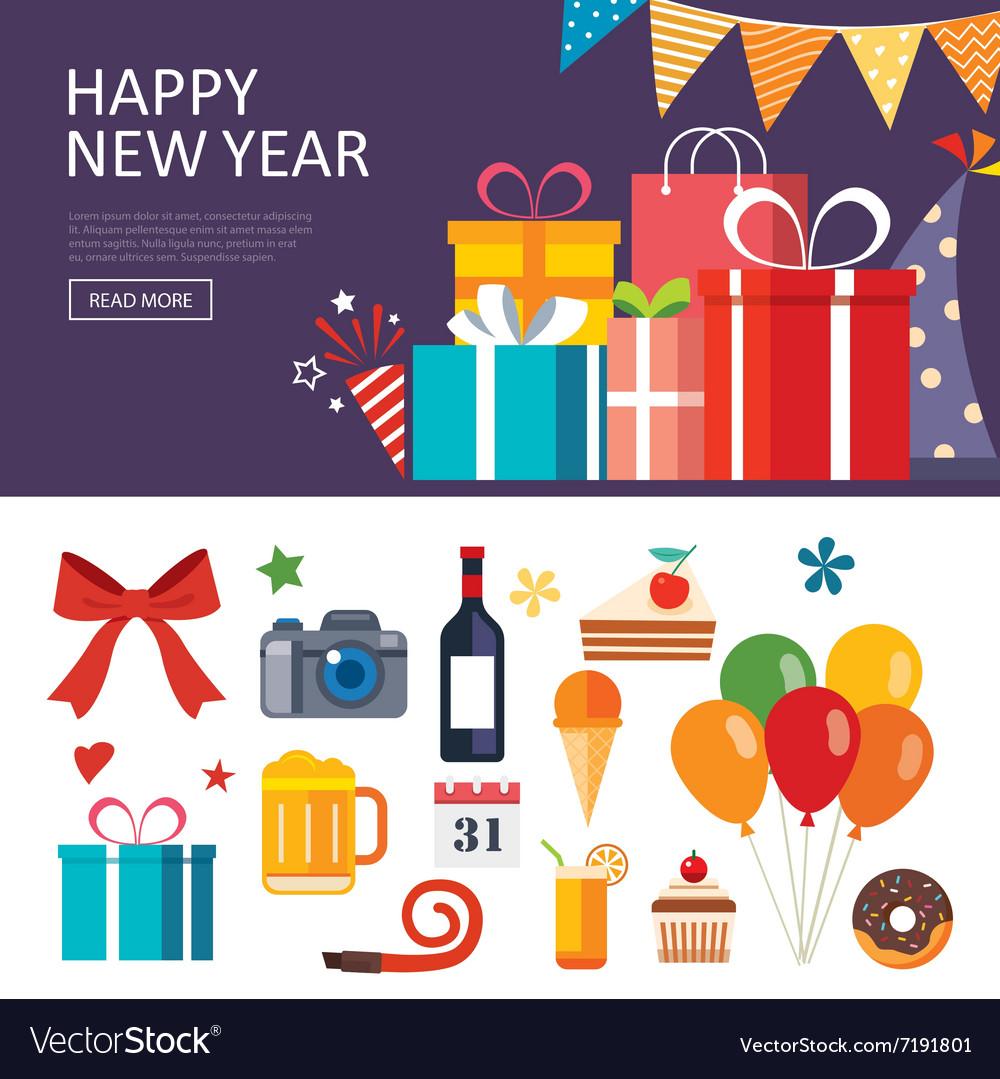 Happy New Year Flat Design 64
