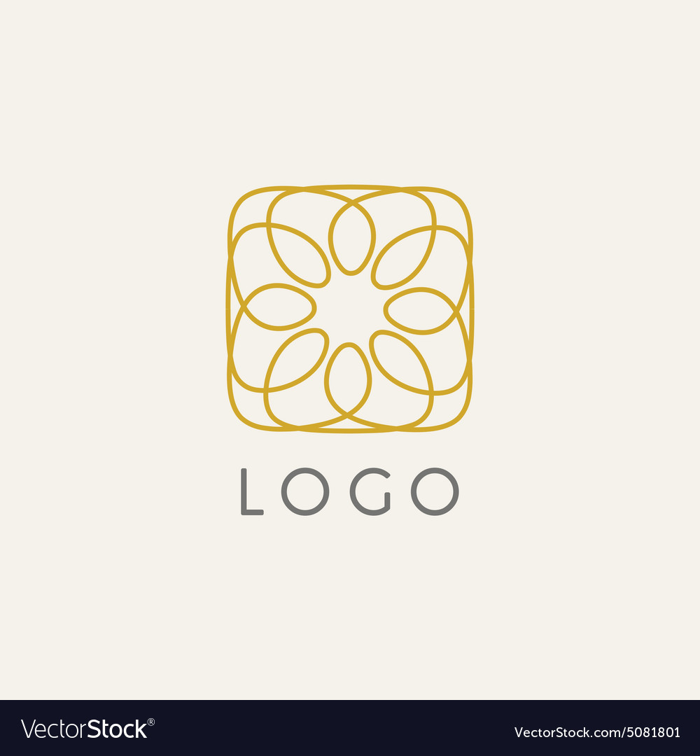 Hipster Logo Template | Hipster Logo Template Royalty Free Vector Image
