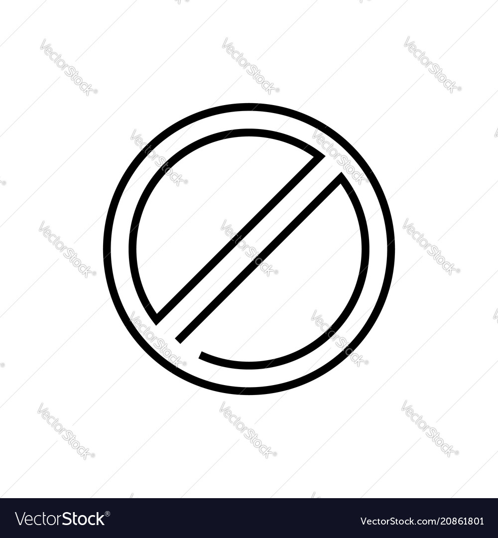 Not allowed sign - line design single isolated