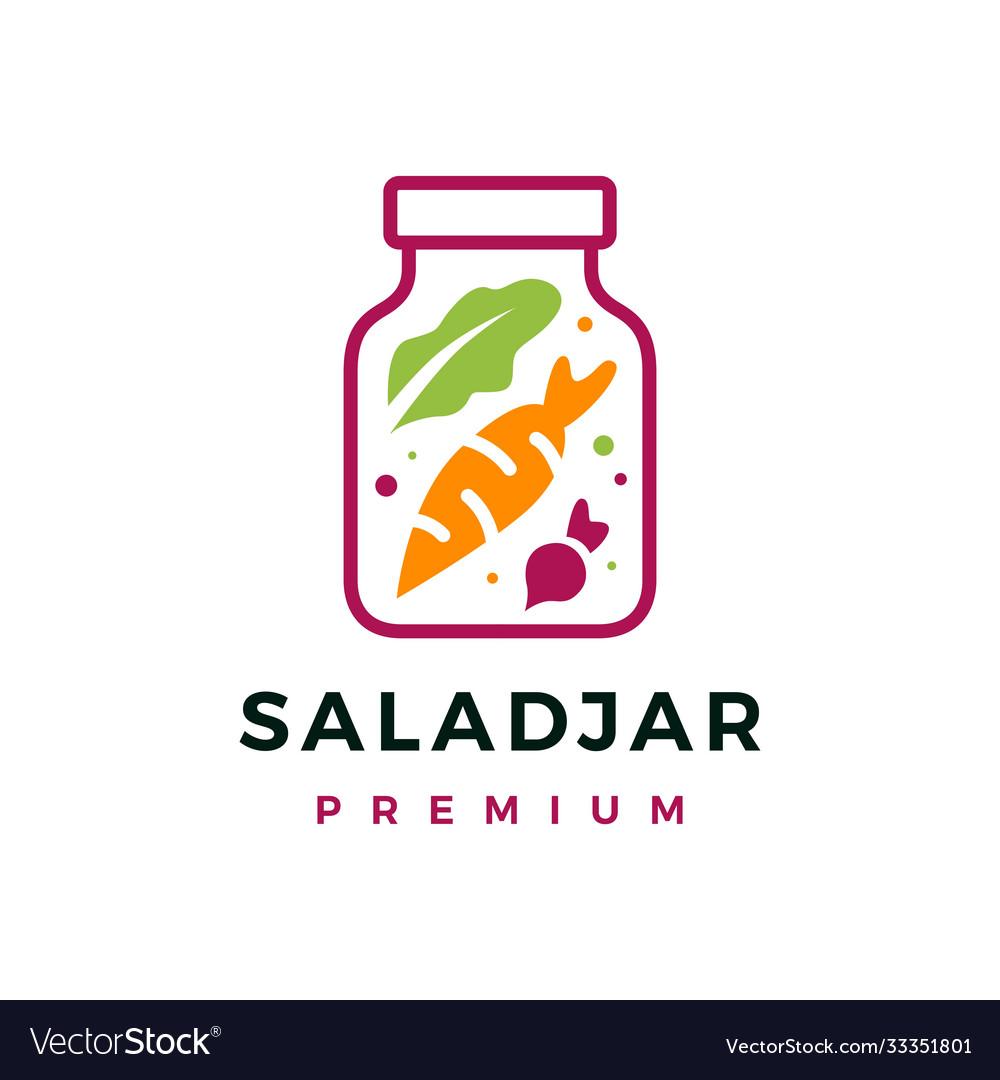 Salad jar logo icon