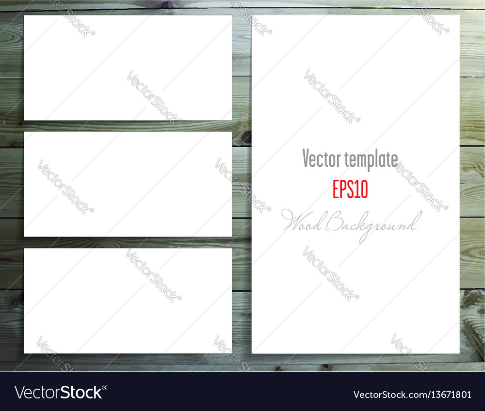 Set of white labels vector image