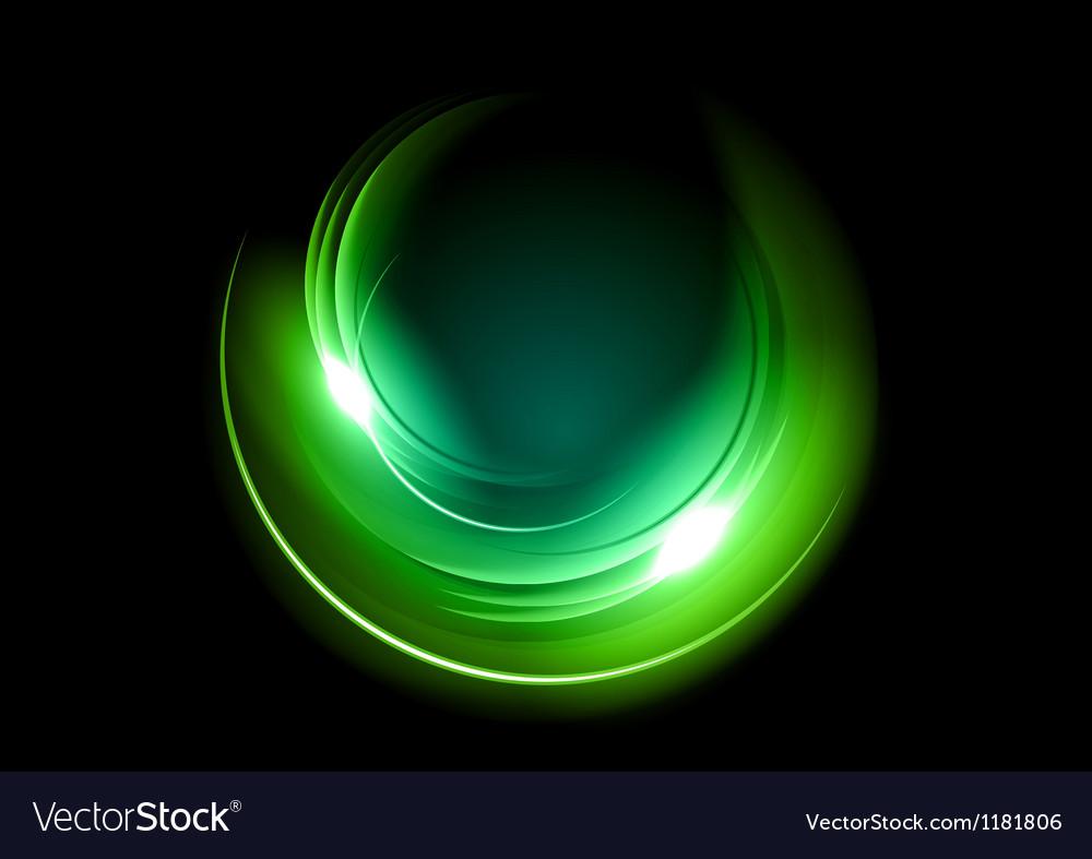 Abstract circle dark green vector image