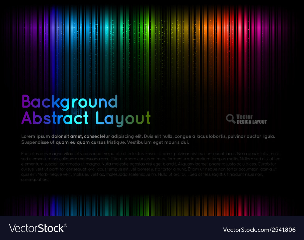 Abstract rainbow layout