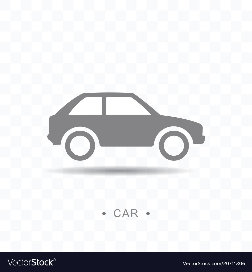 Car icon on transparent background