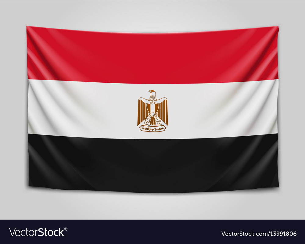 Hanging flag of egypt arab republic of egypt