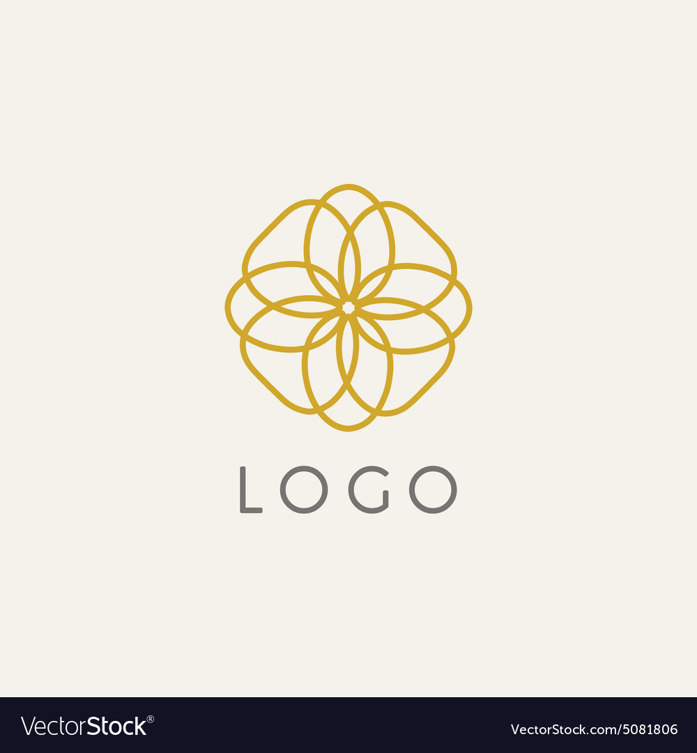 Hipster Logo Template Royalty Free Vector Image