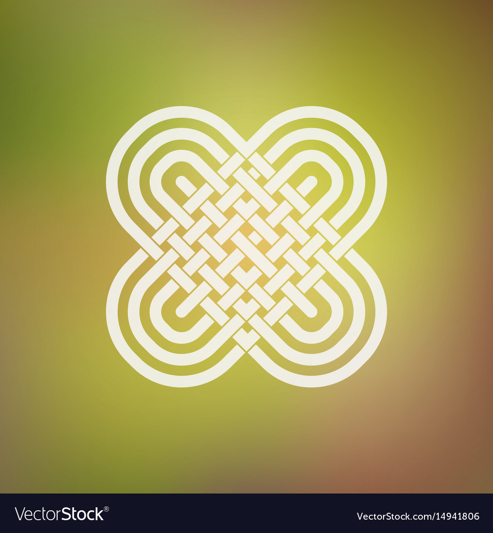 Isolated abstract simmetric icon in celtic and