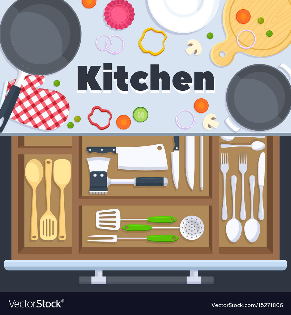 Kitchen design background with cooking