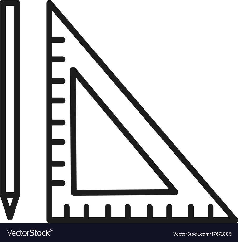 pen ruler icon royalty free vector image vectorstock rh vectorstock com ruler vector ai ruler vector free download